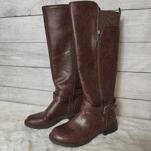 Guess brown riding boots - 6.5